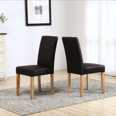 1 x Brown Dining Chair