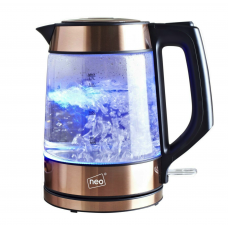 Neo Cordless Nordic Illuminated Glass Kettle Copper