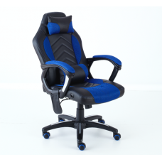 Neo Massage Blue Racing Car PU Leather Gaming and Office Chair