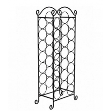 Neo Floor Standing Stainless Steel Black Finish Wine Rack