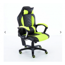 Neo Massage Lime Racing Car PU Leather Gaming and Office Chair