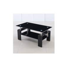 Black 2 Tier Coffee Table