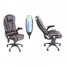 Neo Massage PU Leather Office Chair Brown