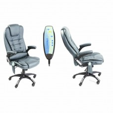 Neo Massage PU Leather Office Chair Grey