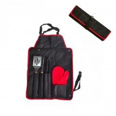 Neo BBQ 5 Piece Tool Set with roll up Apron