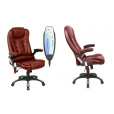 Neo Massage PU Leather Office Chair Burgundy