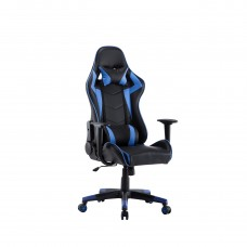 Deluxe Black & Blue Reclining Racing Office Chair